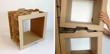 Cardboard on pinterest cardboard furniture cardboard for Diy modular bookcase